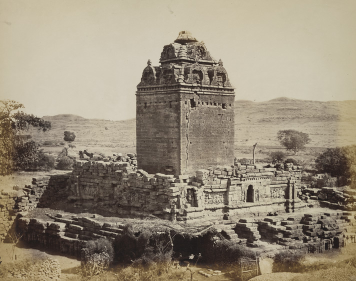 Old temple, general view from the north-west, Gop, Kathiawar